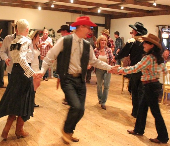 A Barn Dance in Full Swing...